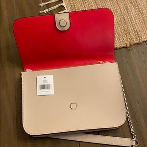 Kate Spade Purse - Bright Red and Sand Color